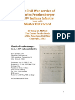 Charles Frankenberger 128th Indiana Infantry military record