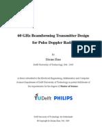 60 GHz Beamforming Transmitter Design for Pulse Doppler Radar