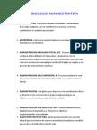 terminologia administrativa