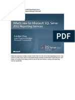 What's New for Microsoft SQL Server 2012 Reporting Services
