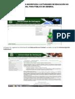 Instructivo para inscripción en eventos de extensión de la UdeA