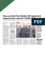 Perú Moda generará negocios por 80 millones de dólares