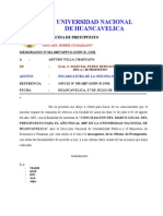 MEMORANDO Nº 012-2007-OPPTO