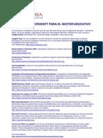 Recursos Microsoft Sector Educativo