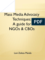 Media Advocacy Techniques for NGOs and CBOs