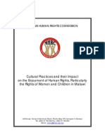 Cultural Practices Report