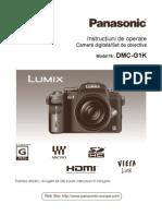 Manual de Utilizare Panasonic G1