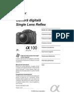 Manual de Utilizare Sony A100