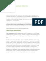 Características y usos de los materiales