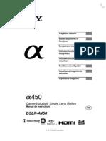 Manual de Utilizare Sony A450