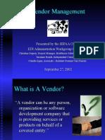 Vendor Management 092702