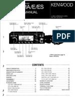 Kenwood Tm 221 Sevice Manual