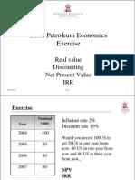 Basic Petroleum Economics Exercise