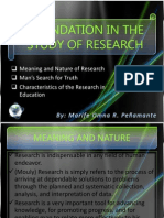 Foundation in the Study of Research