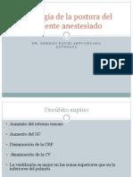 Fisiología de la postura del paciente anestesiado
