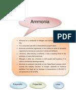 Go 5 Ammonia, Sulphuric Acid, Nitric Acid