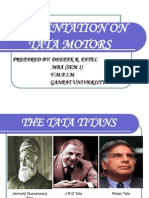 Presentation on Tata Motors - Copy