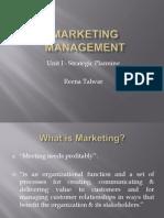 Marketing Management - Unit I