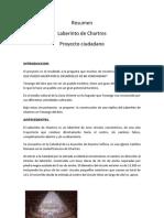 Resumen de Laberinto de Chartres