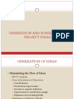 Generation & Screening of Project Ideas