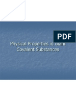Physical Properties of Giant Covalent Substances