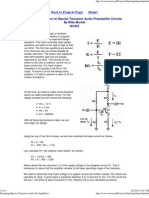 Transistor Amplifier Design Procedure