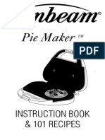 Sunbeam Pie Maker Inst Book & 101 Recipies 4805