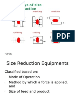 Size Reduction - Mechanical Operations