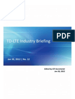 TD-LTE Industry Briefing - Jan 2012