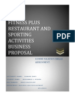 Fitness Plus Restourant Business Proposal