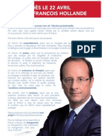 François Hollande | Tract 1er tour