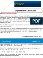 Rational Expressions Calculator