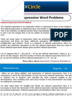 Rational Expression Word Problems