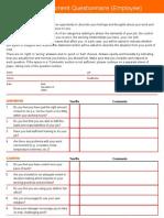 Stress Risk Assessment Questionnaire (Employee) - Schools