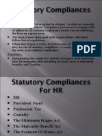Statutory Compliances For HR