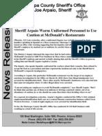 McDonalds News Release