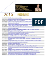 2010 MCSO Press Releases