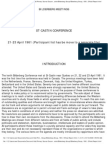 Bilderberg Meeting Official Report 1961
