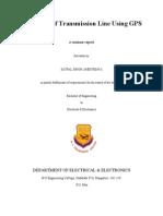 Protection of Transmission Line Using GPS.doc Satpal Ppt File