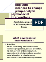 Resistances to Change in Group-Analytic Psycho Social Interventions