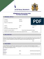 Rina Membership Application Form _ Fellow and Member