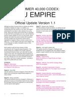 Warhammer 40k - Codex - Tau Empire - FAQ