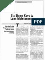 041115s Six Sigma Keys to Lean Maintenance - Maint-Tech-Mgzn
