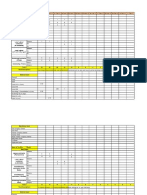 Dpr Format of Civil engineers in excel format | Masonry | Brick