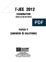 IIT-JEE Paper1 With Solution