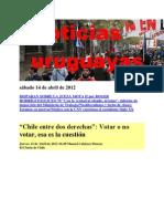 Noticias Uruguayas sábado 14 de abril de 2012