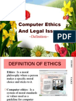 Computer Ethics and Legal Issues