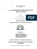 Gas Detection & Prevention With Auto Dial Up Logic Final Year Electronic Project