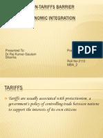 Tariff and Non-Tariffs Barrier