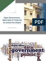 Open Government, Open data et l'internet au service du citoyen par Pr. Tawfik Jelassi